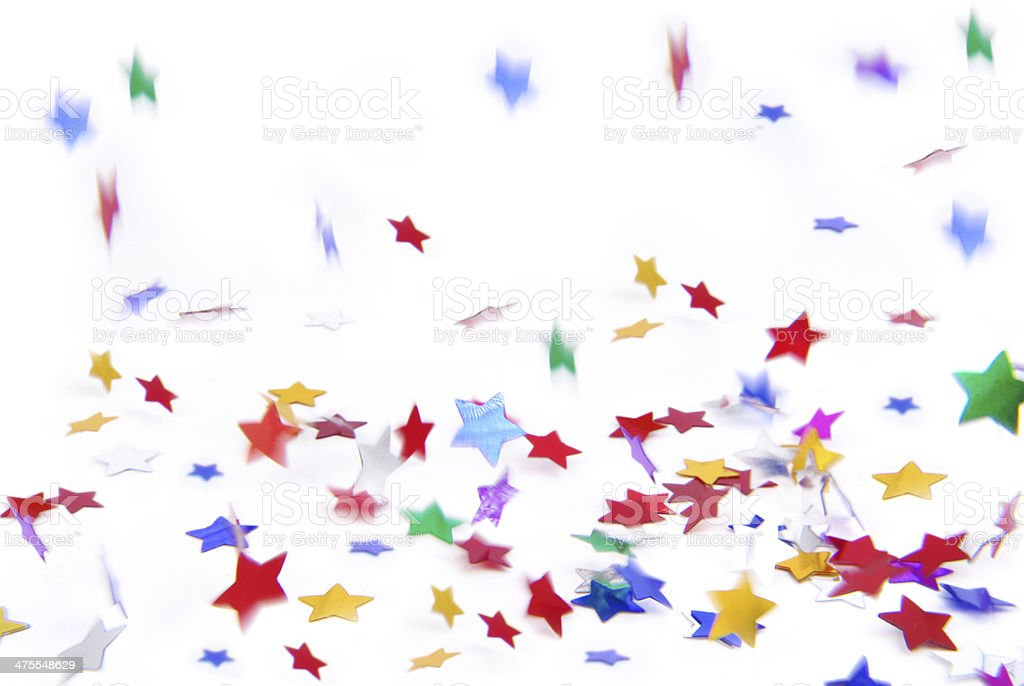 confetti colorful flying isolated on white royalty-free stock photo