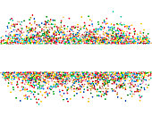 Confetti decoration white background Holiday party banner