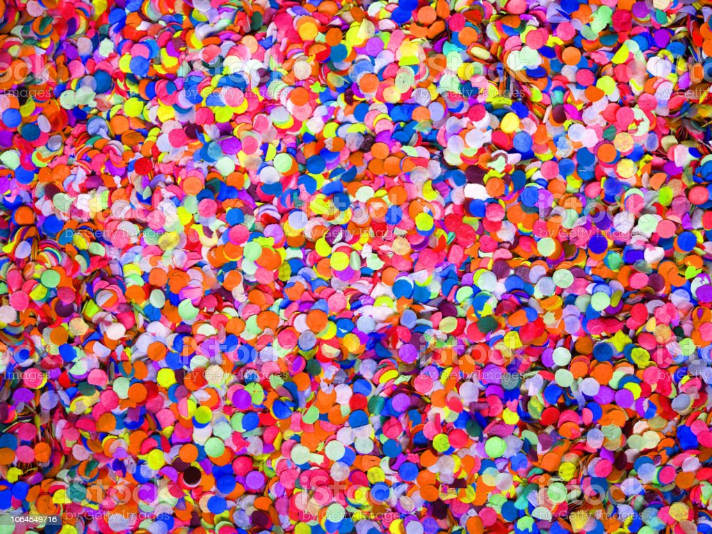 Confetti diversity background, large size. Texture colored circles...