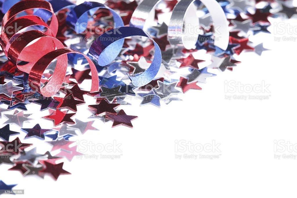 Confetti frame stock photo