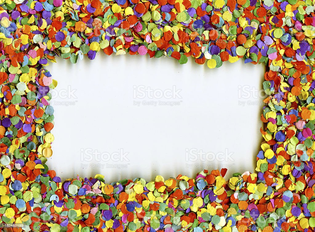 Confetti Frame royalty-free stock photo