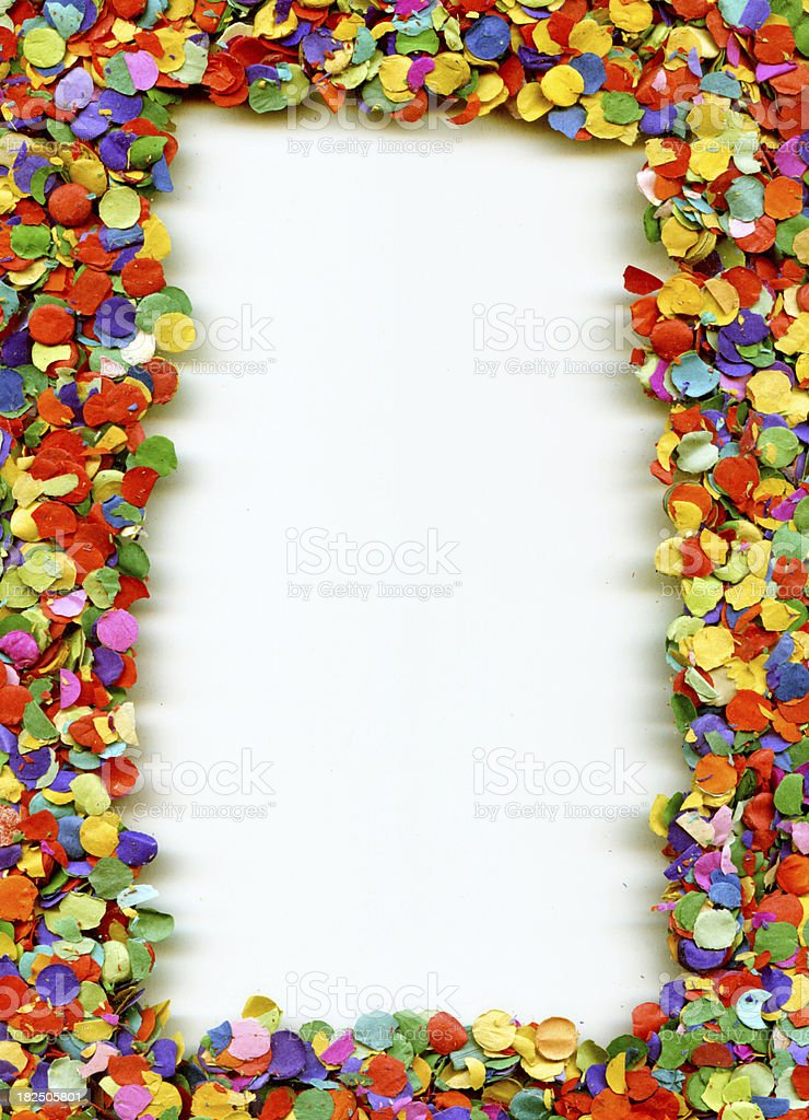 Confetti frame royalty-free stock photo