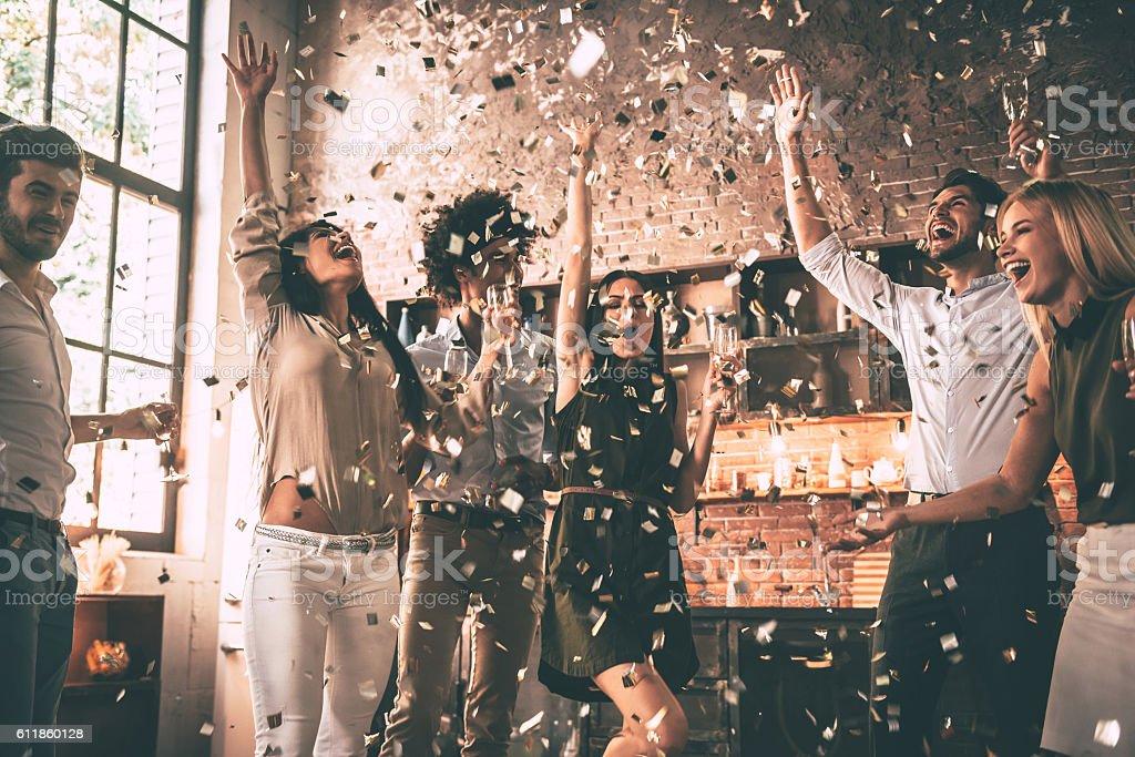 Confeti diversión. - foto de stock