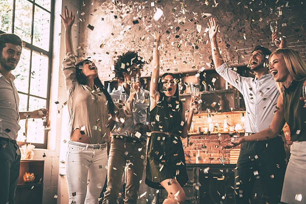 Confetti fun. stock photo