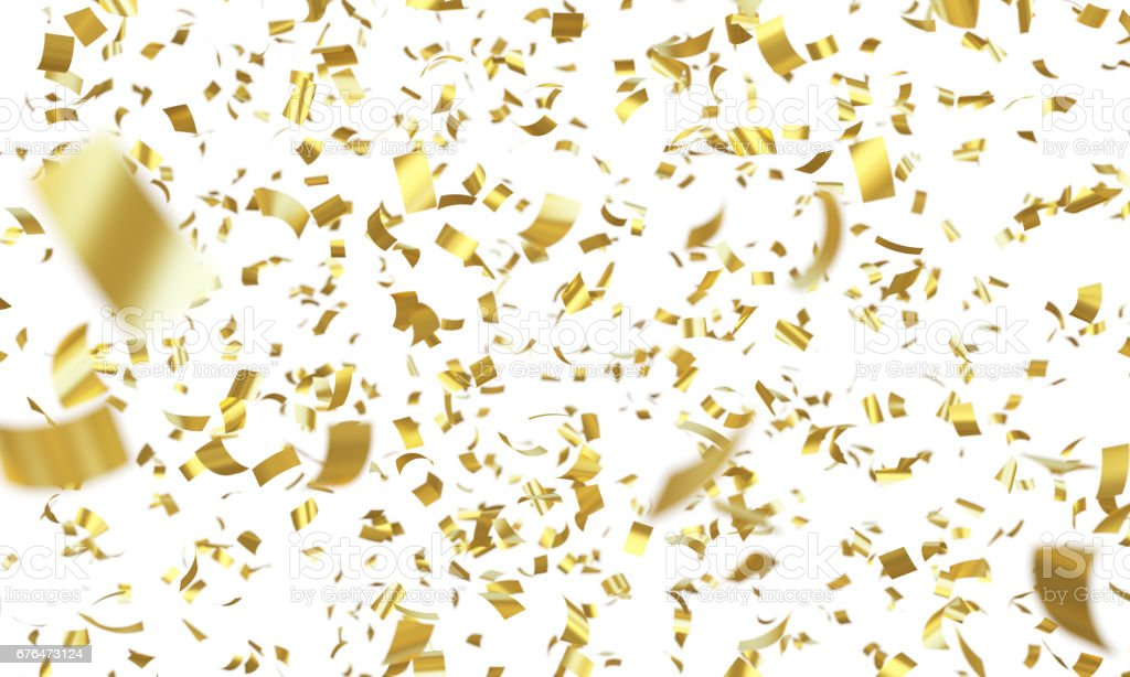 Confetti Gold stock photo