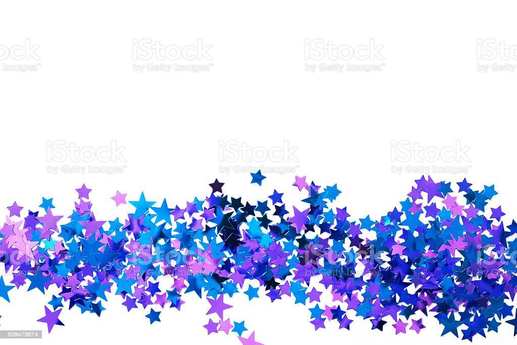 confetti on a white background stock photo