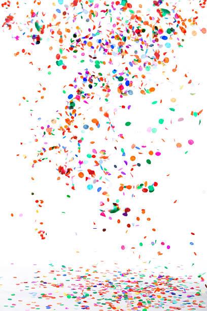 coriandoli e stelle filanti - coriandoli e stelle filanti foto e immagini stock