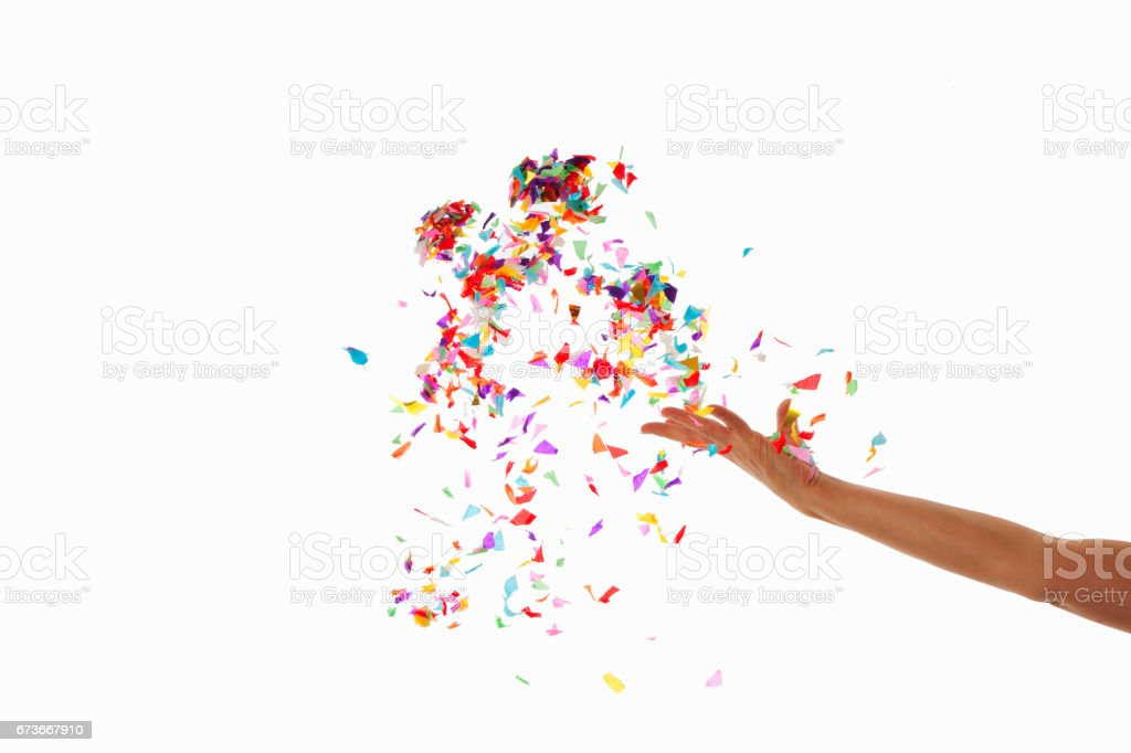 Confetti stock photo