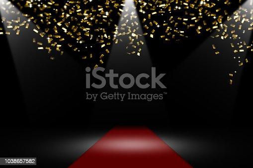 istock confetti rain on red carpet 1038657582