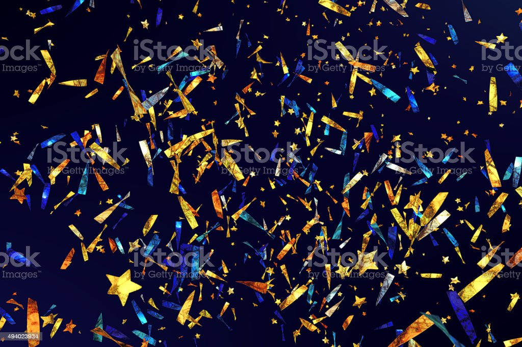 Confetti Ribbons A05 stock photo