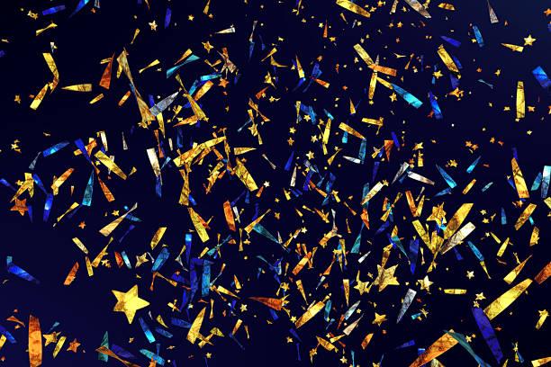 confetti ribbons a05 - blue yellow band bildbanksfoton och bilder