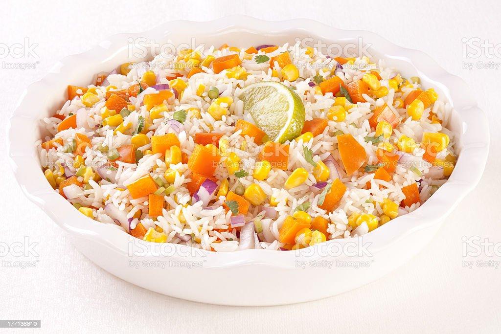 Confetti Rice Salad stock photo