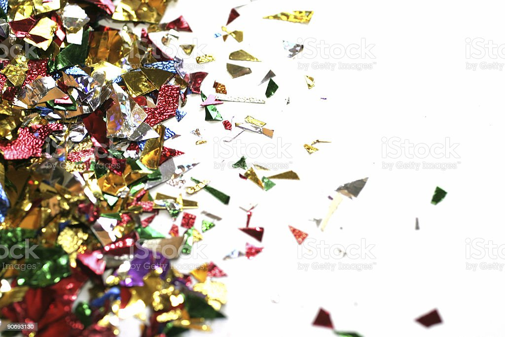 Confetti - room for copy royalty-free stock photo