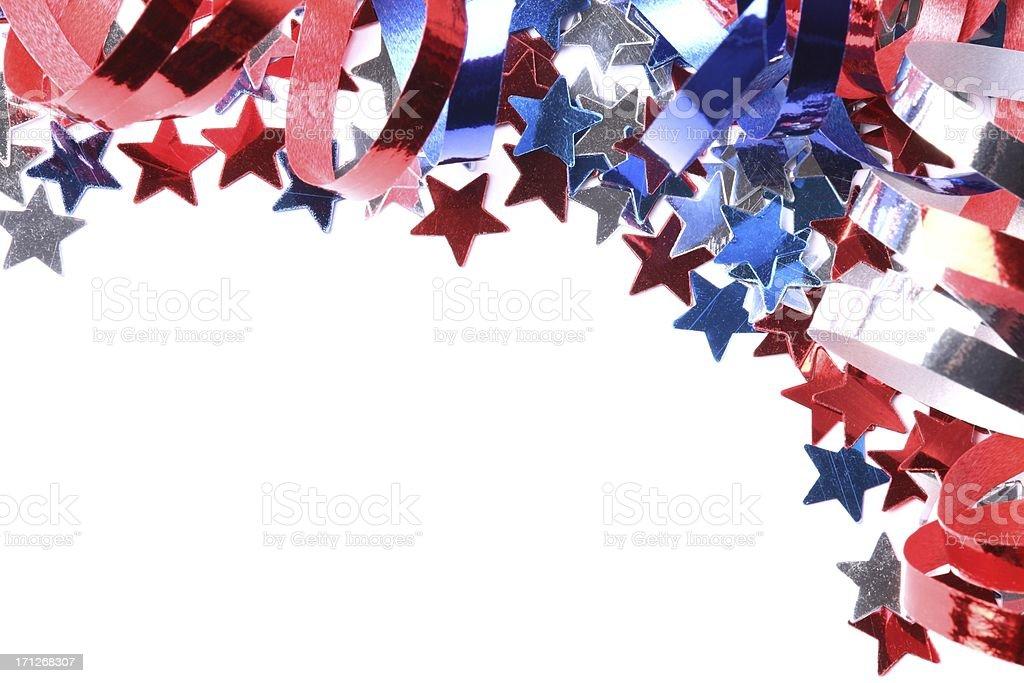Confetti stars background stock photo
