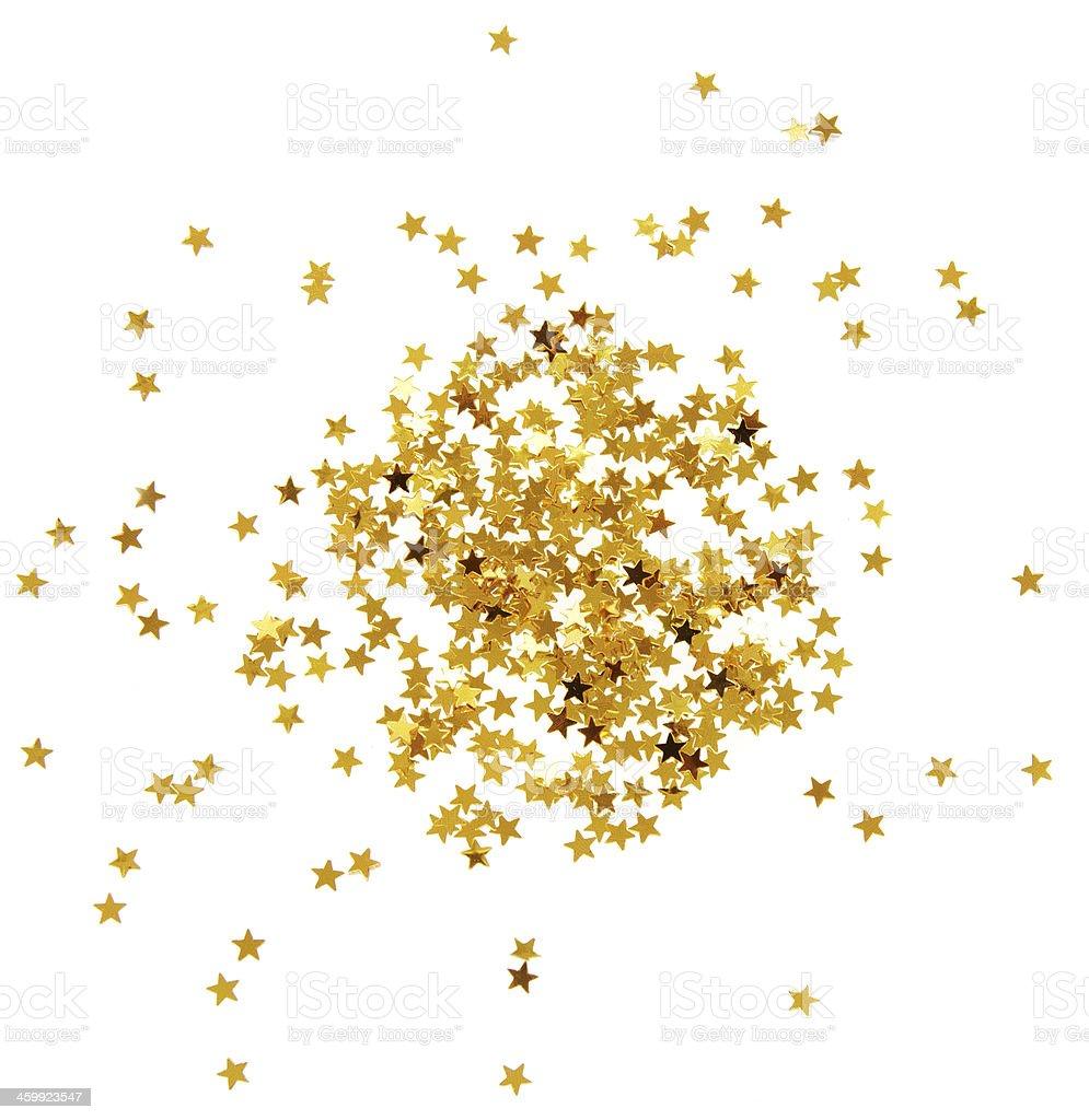 Confetti stars stock photo