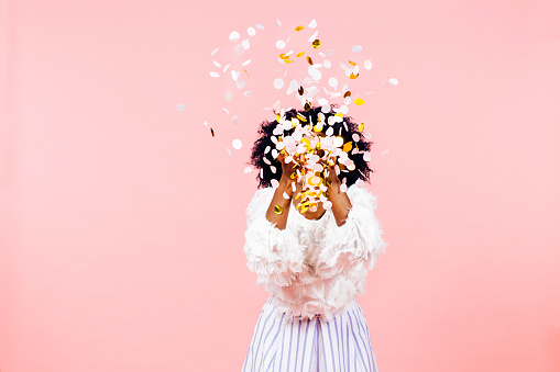 istock Confetti throw- celebrate  success 1142019221