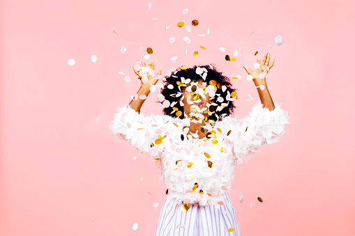 istock Confetti throw- celebrating happiness and success 1142019220