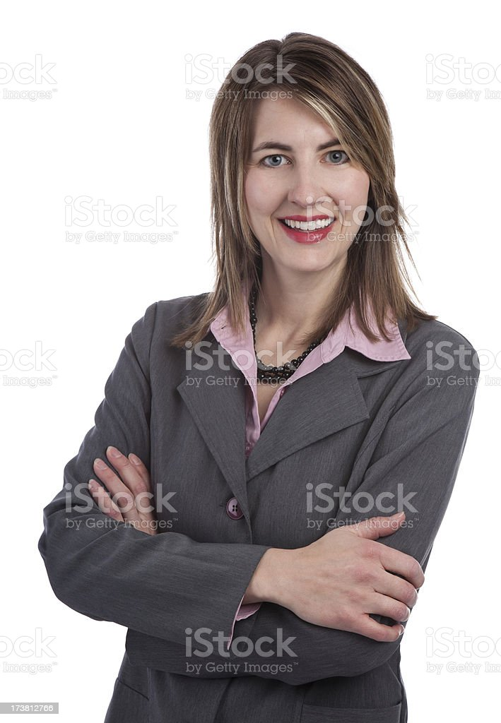 Confidant Business Woman royalty-free stock photo