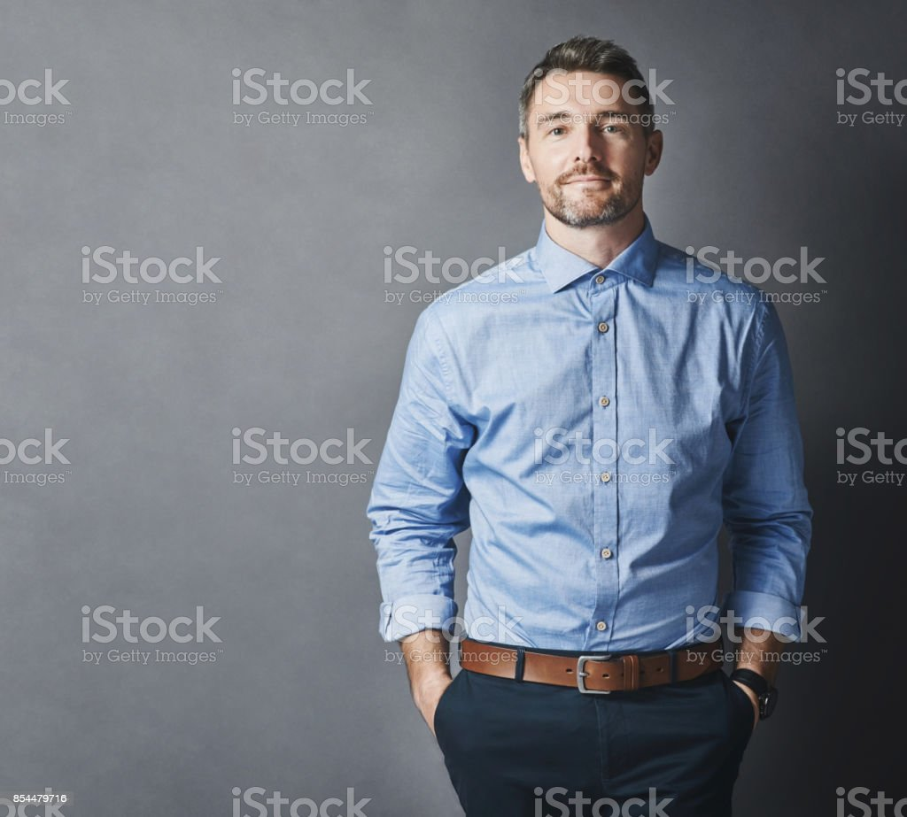 Confidence and success are intertwined stock photo