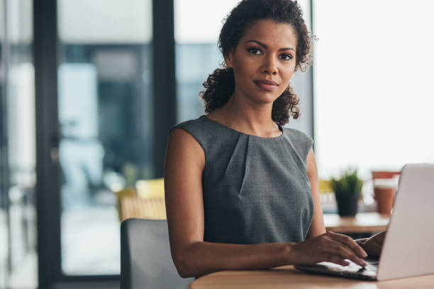 Confidence and success in business stock photo