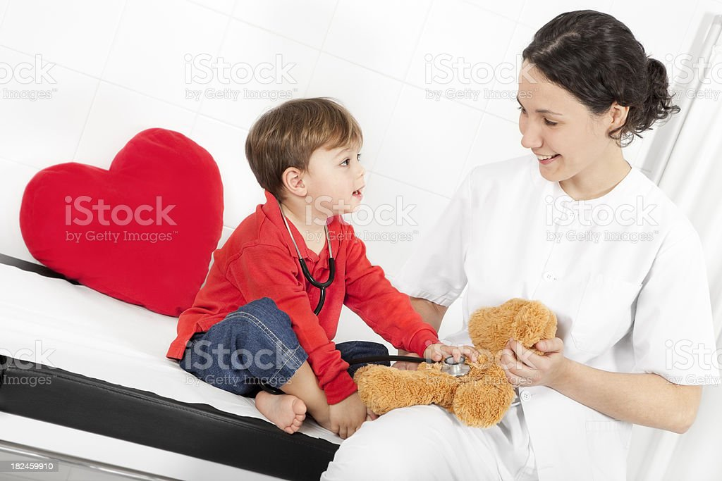 confidence at the doctor royalty-free stock photo