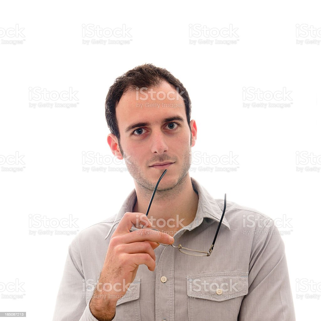 Confidence casual man looking the camera royalty-free stock photo