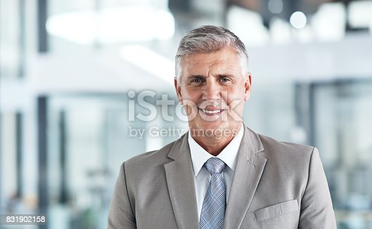 istock Confidence got him to the top 831902158