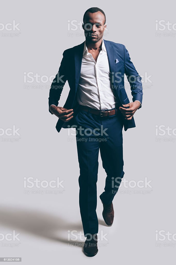 Confidence in every move. stock photo