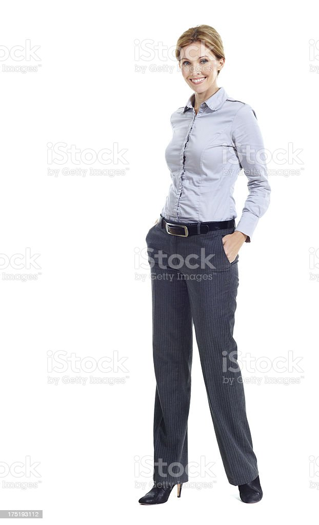 Confidence in her career stock photo