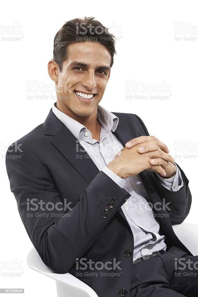 Confidence in the business world royalty-free stock photo