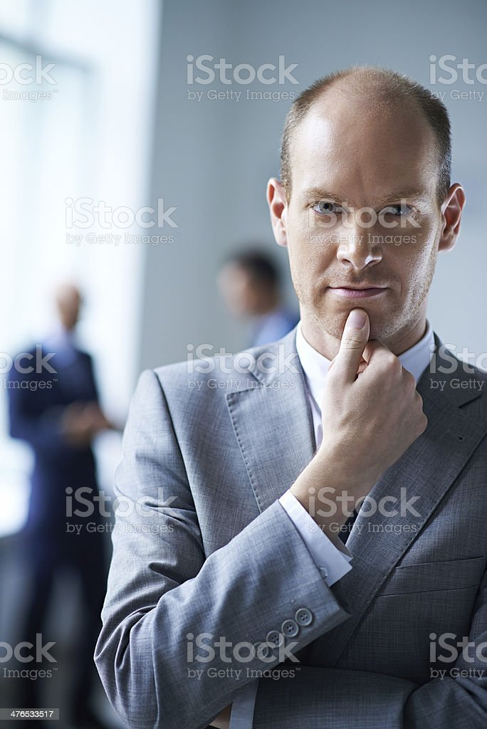 Confidence is a key to success stock photo