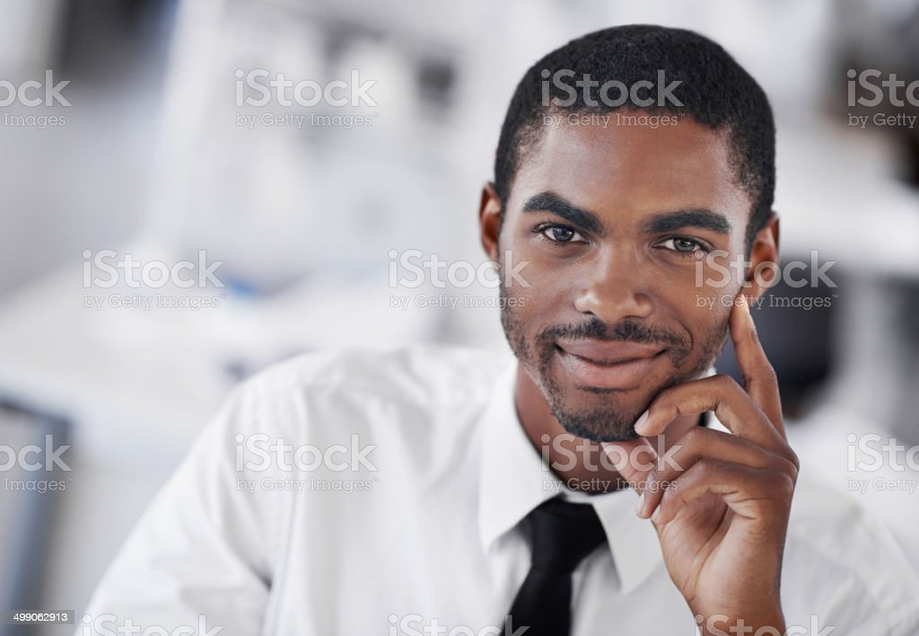 Confidence is earned stock photo