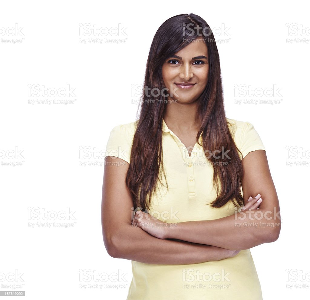 Confidence is her best attribute royalty-free stock photo