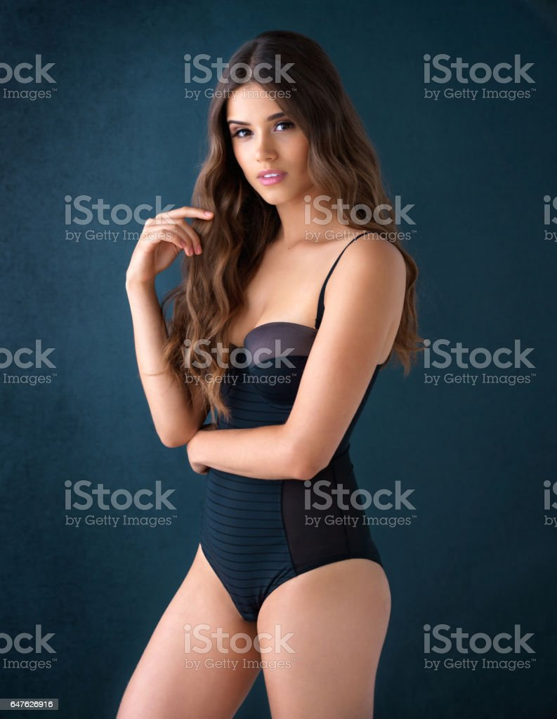 Confidence is her sexiest asset stock photo