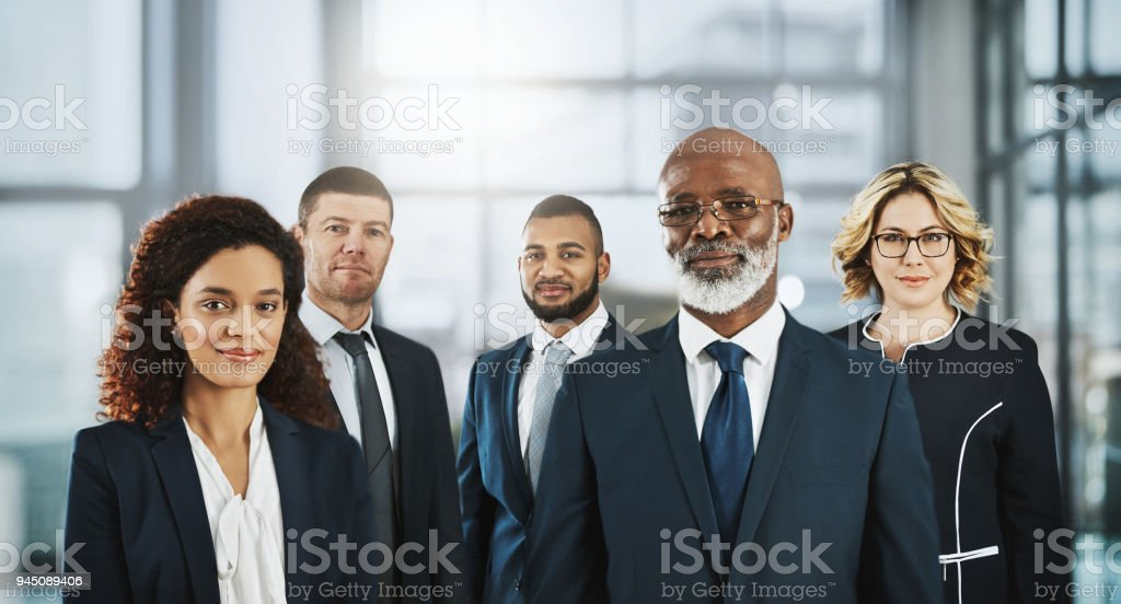 Confidence is the foundation of a successful team stock photo