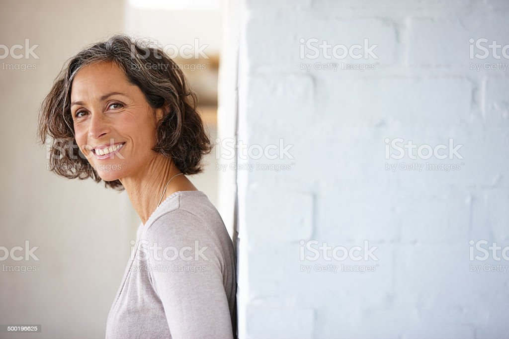 Confidence is the greatest kind of beauty stock photo