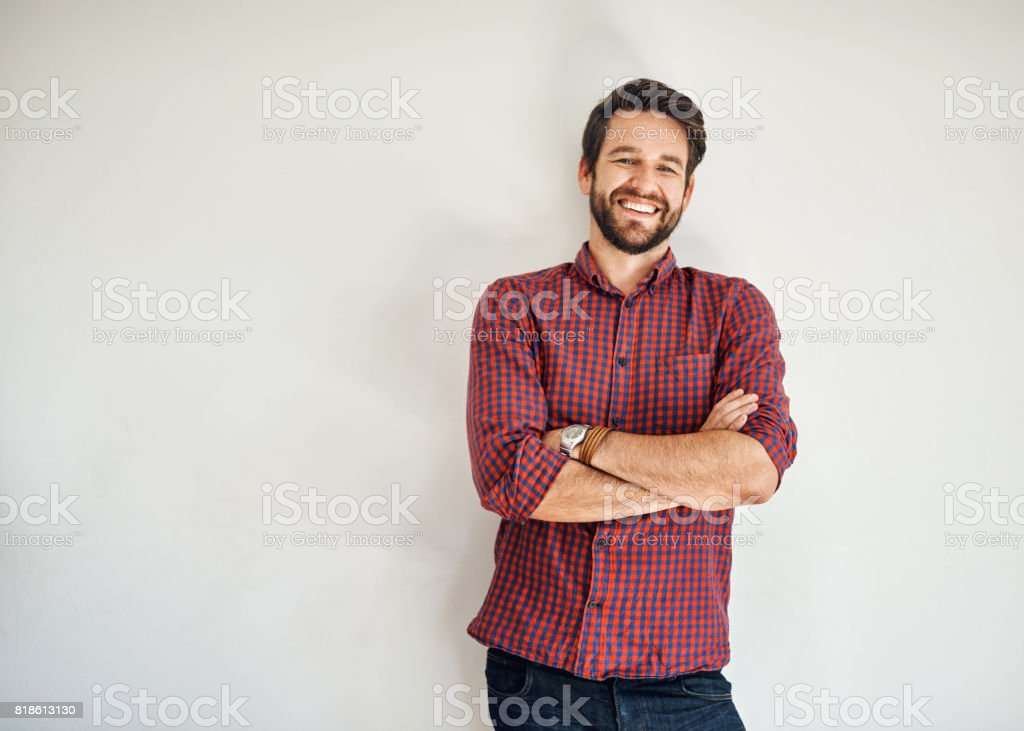 Confidence is the name of the game stock photo