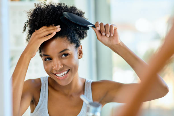 自信使每一天都是個好頭髮的日子 - 護髮用品 個照片及圖片檔