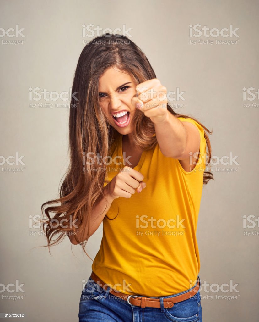 Confidence stands up for what it believes in stock photo