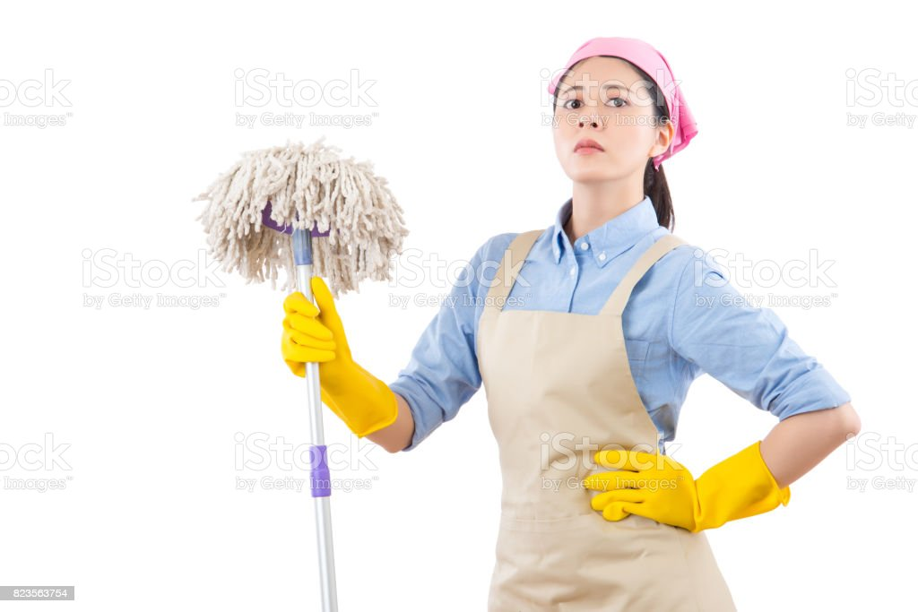 confidence successful housewife standing stock photo