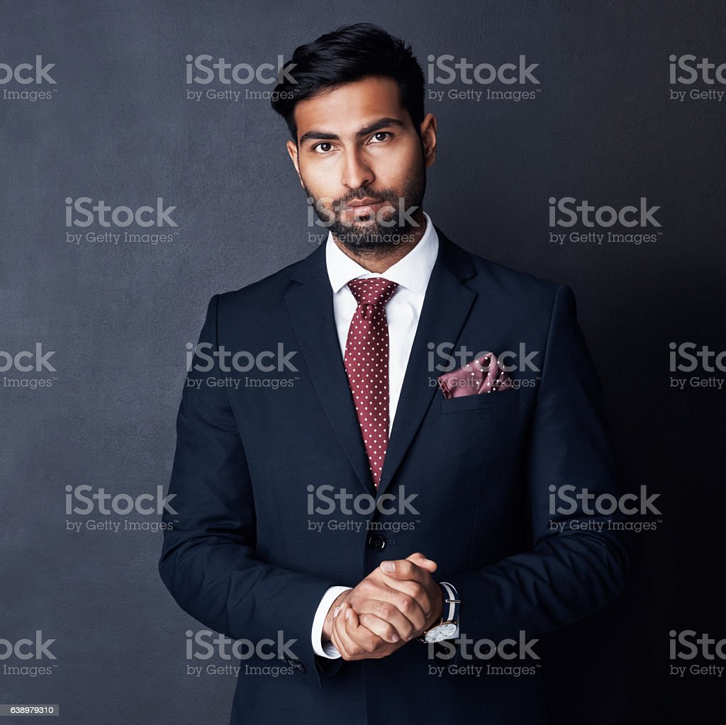 Confidence that delivers credibility to business name stock photo