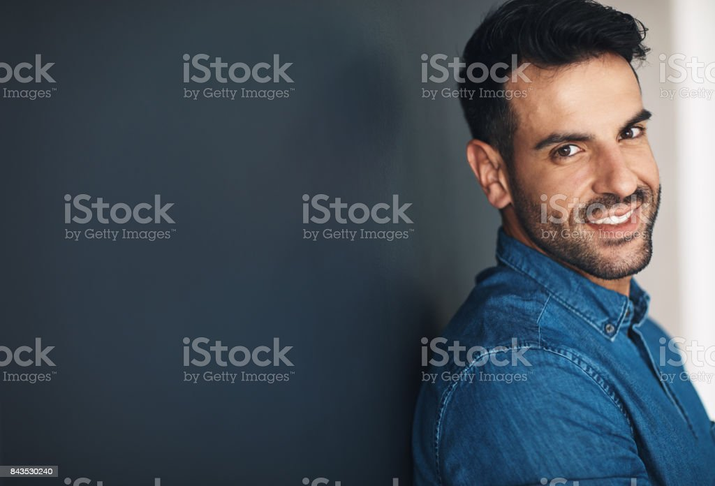 Confidence, the best thing a man can wear stock photo
