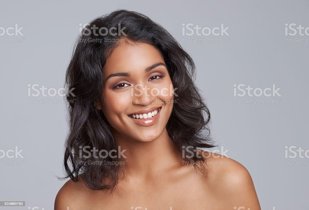 Confidence, wear it like makeup stock photo