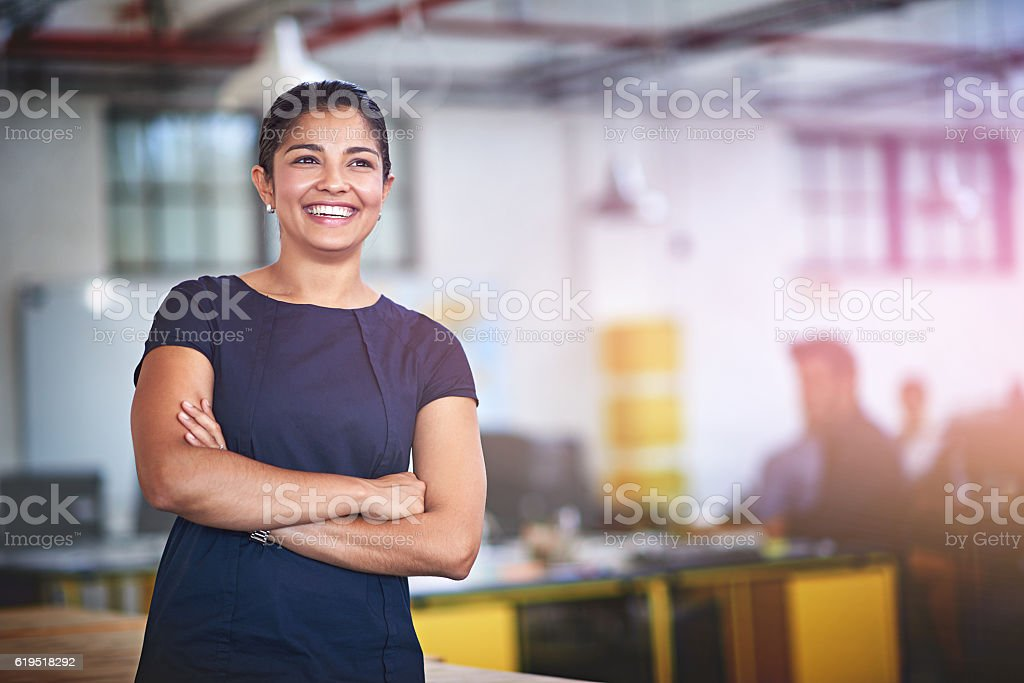 Confident about future success stock photo