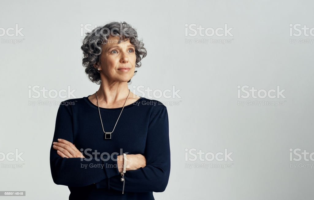 Confident about what has been and what is becoming stock photo