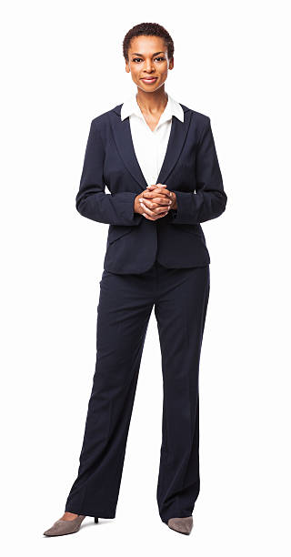 Confident African American Female Executive - Isolated stock photo