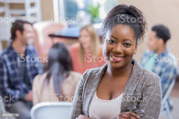 Confident african american woman attends support group picture id640332130?b=1&k=6&m=640332130&s=612x612&h=am6opt elvi9hxvjq2s6rf0wyfi6pscxy40d1lqhrie=