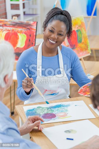 658645980istockphoto Confident African American woman enjoys painting with friends 655976168