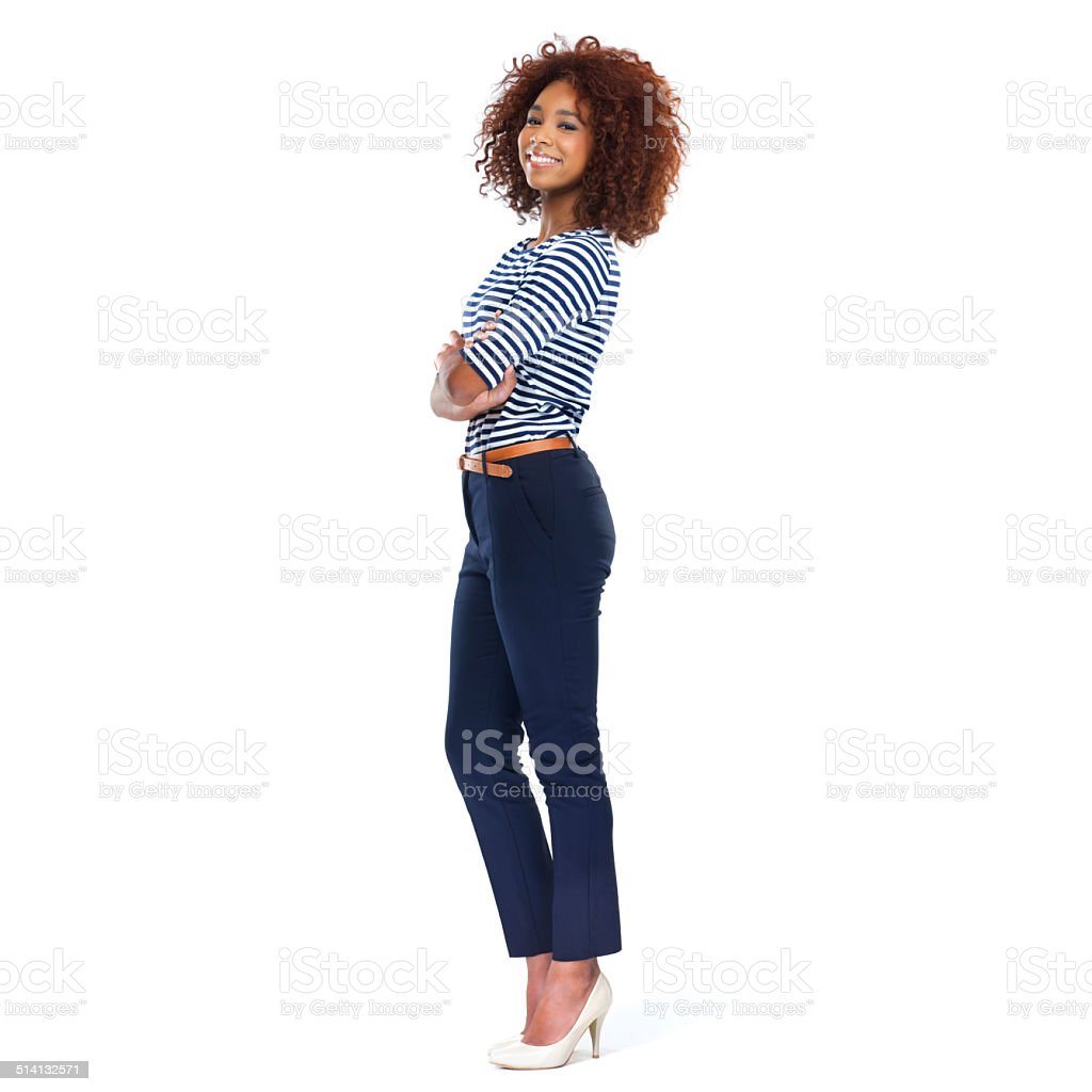Confident and carefree stock photo