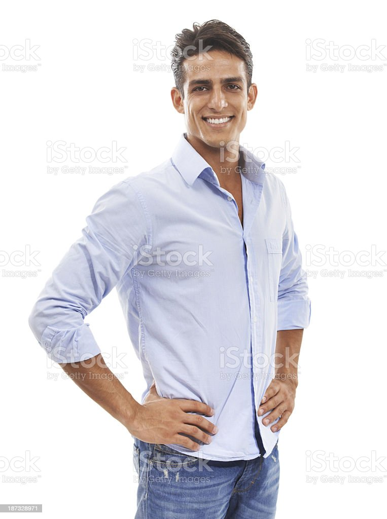 Confident and casual stock photo